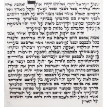 Мезуза 15*15 см (Аризаль Мегудар II)